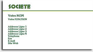 modele carte de visite gratuit a imprimer