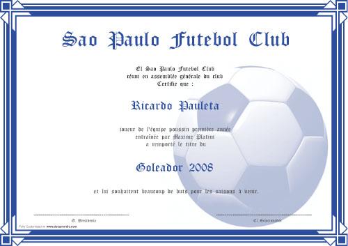 dipl u00f4me pour footballeur